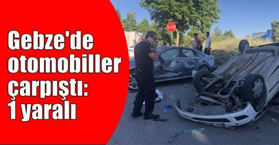 Gebze'de otomobiller çarpıştı: 1 yaralı