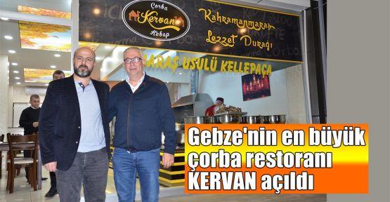 Gebze'nin en büyük çorba restoranı Kervan açıldı