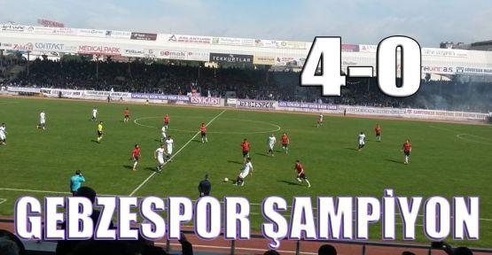 Gebzespor şampiyon: 4-0