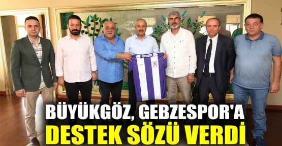 Gebzespor yönetimi Başkan Büyükgöz'ü ziyaret etti