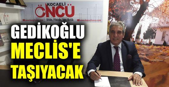 Gedikoğlu, Meclis'e taşıyacak
