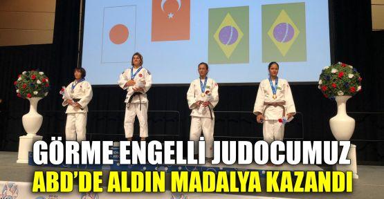 Görme engelli judocumuz ABD'de aldın madalya kazandı