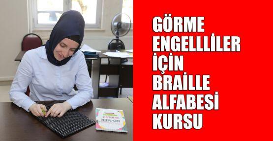 Görme engellliler için Braille Alfabesi kursu