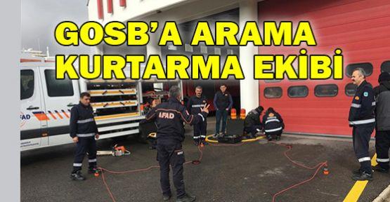 GOSB'da arama kurtarma ekibi oluşturuldu