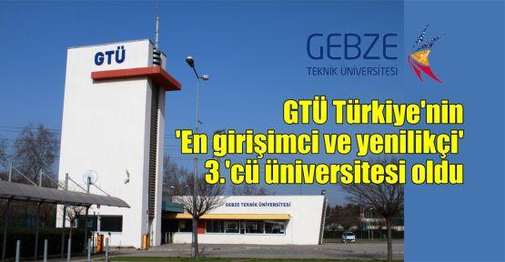 GTÜ Türkiye'nin 'En girişimci ve yenilikçi' 3.'cü üniversitesi oldu
