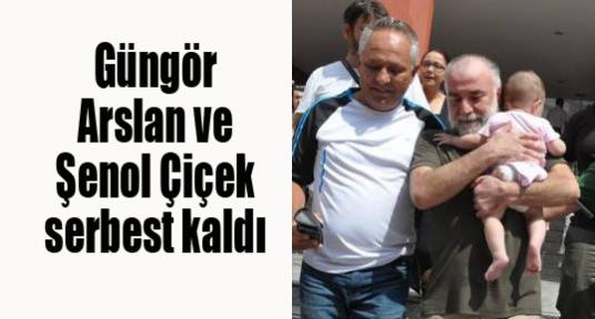 Güngör Arslan ve Şenol Çiçek serbest