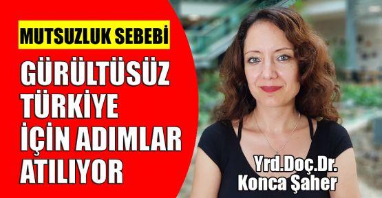 Gürültüsüz Türkiye için adımlar atılıyor