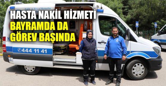 Hasta Nakil Hizmeti bayramda da görev başında