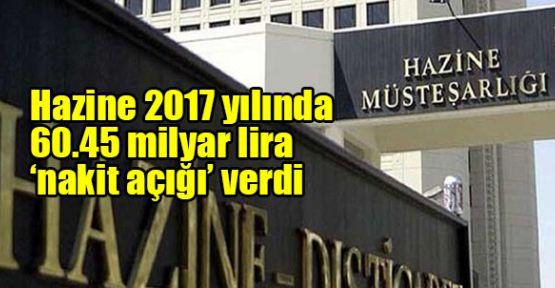 Hazine 2017 yılında 60.45 milyar lira