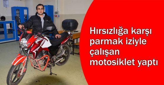 Hırsızlığa karşı parmak iziyle çalışan motosiklet yaptı