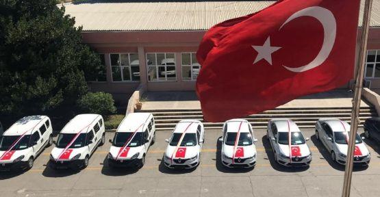 İl Emniyet Müdürlüğü'ne 14 araç teslim edildi