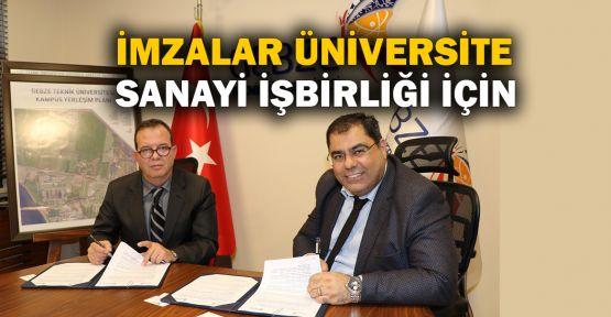 İmzalar üniversite, sanayi işbirliği için atıldı