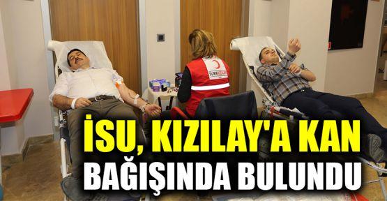 İSU, Kızılay'a kan bağışında bulundu