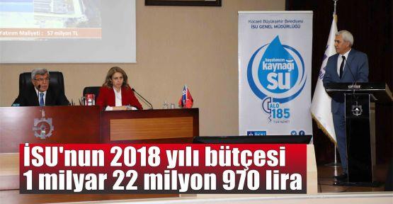 İSU'nun 2018 yılı bütçesi 895 milyon 970 bin lira