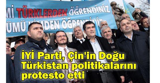 İYİ Parti, Çin'in Doğu Türkistan politikalarını protesto etti