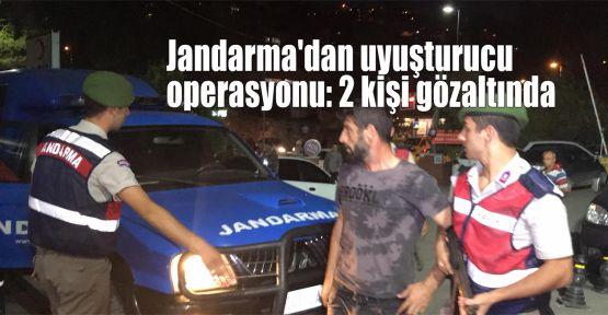 Jandarma'dan uyuşturucu operasyonu