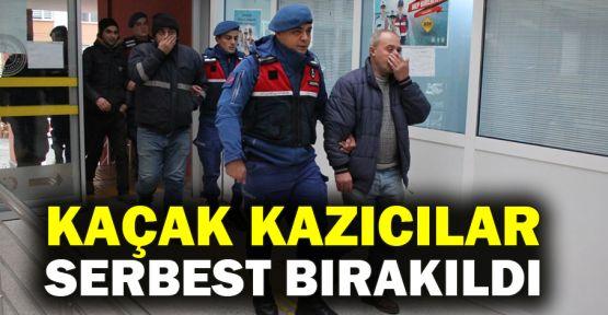 Kaçak kazıcılar serbest bırakıldı
