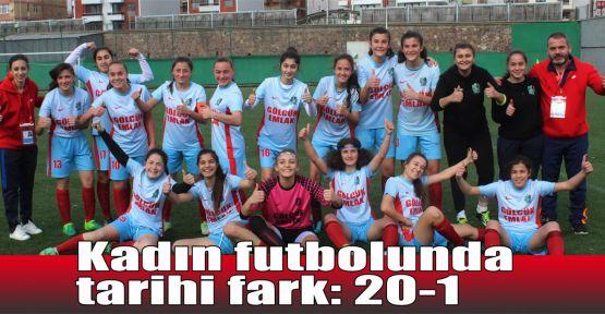 Kadın futbolda tarihi fark: 20-1