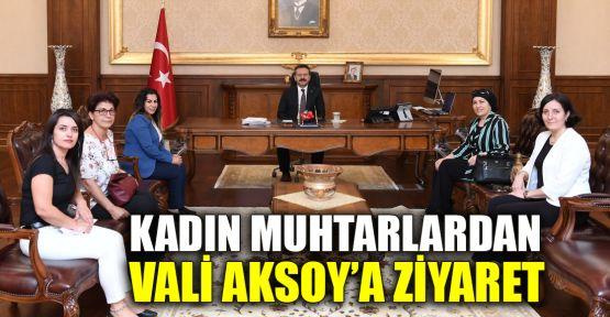 Kadın muhtarlardan Vali Aksoy'a ziyaret