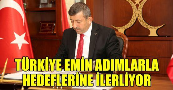 Karabacak: Türkiye emin adımlarla hedeflerine ilerliyor
