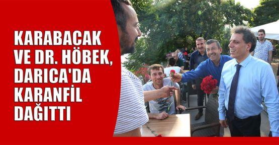 Karabacak ve Dr. Höbek, Darıca'da karanfil dağıttı