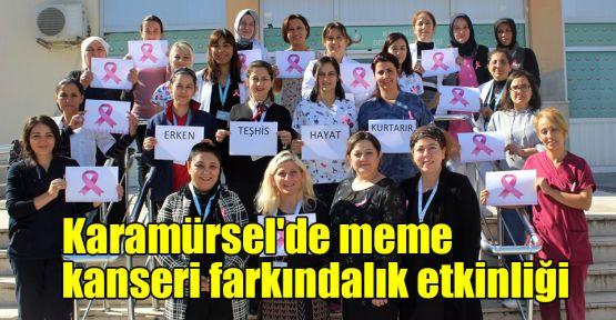 Karamürsel'de meme kanseri farkındalık etkinliği