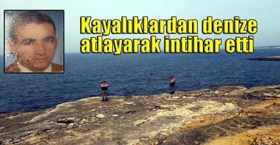 Kayalıklardan denize atlayarak intihar etti