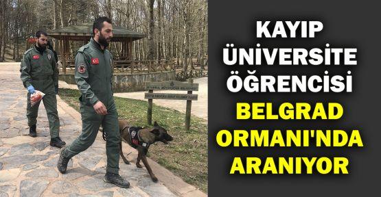 Kayıp üniversite öğrencisi Belgrad Ormanı'nda aranıyor