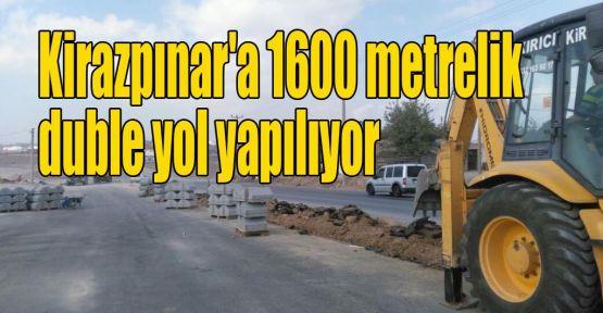 Kirazpınar'a 1600 metrelik duble yol yapılıyor