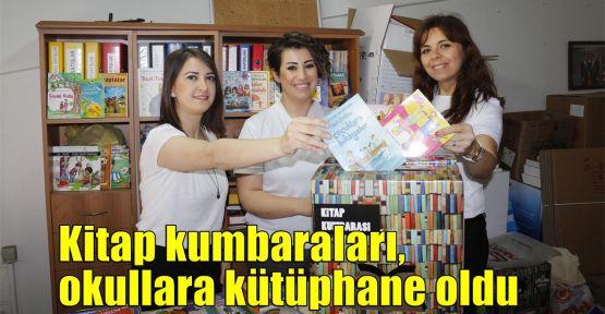 Kitap kumbaraları, okullara kütüphane oldu