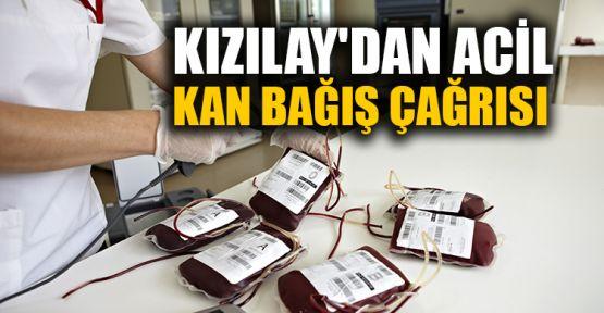 Kızılay'dan acil kan bağış çağrısı