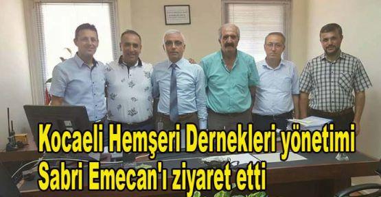 Kocaeli Hemşeri Dernekleri yönetimi, Sabri Emecan'ı ziyaret etti