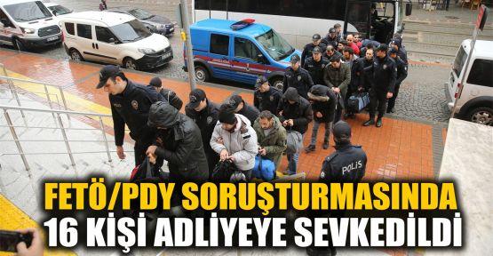 Kocaeli merkezli FETÖ/PDY soruşturmasında 16 kişi adliyede
