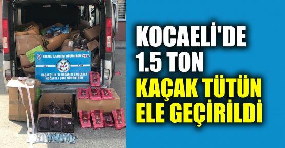 Kocaeli'de 1,5 ton kaçak nargile tütünü ele geçirildi