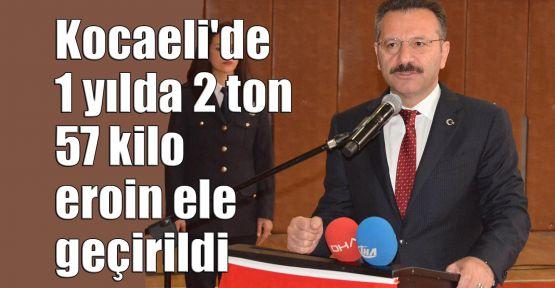 Kocaeli'de 1 yılda 2 ton 57 kilo eroin ele geçirildi