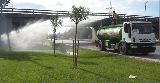 Kocaeli'de 219 bölgede sulama yapılıyor