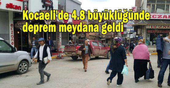 Kocaeli'de 4.8 büyüklüğünde deprem