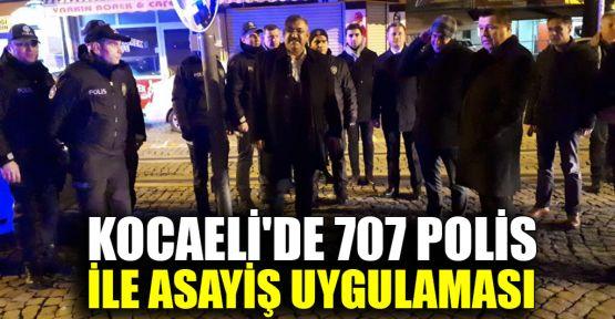 Kocaeli'de 707 polis ile asayiş uygulaması
