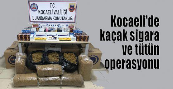 Kocaeli'de kaçak sigara ve tütün operasyonu