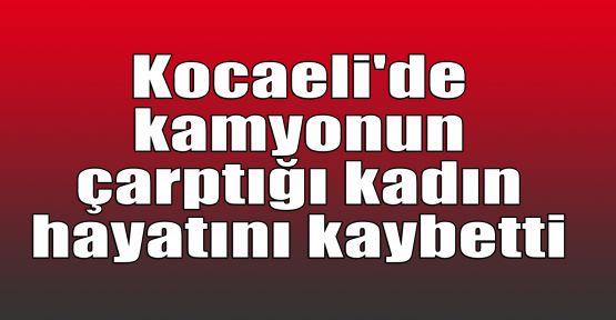 Kocaeli'de kamyonun çarptığı kadın hayatını kaybetti