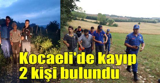 Kocaeli'de kayıp 2 kişi bulundu