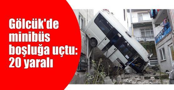 Kocaeli'de minibüs boşluğa uçtu: 20 yaralı