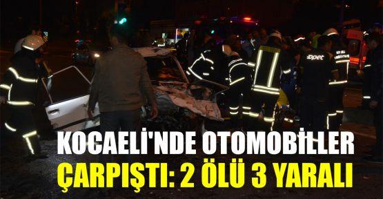 Kocaeli'de otomobiller çarpıştı: 2 ölü, 3 yaralı