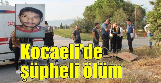 Kocaeli'de şüpheli ölüm