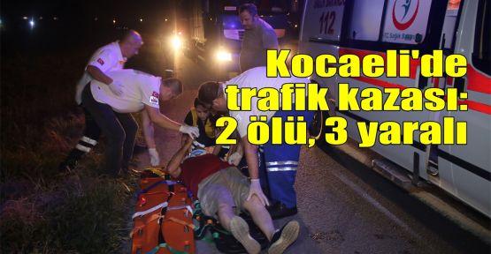 Kocaeli'de trafik kazası: 2 ölü, 3 yaralı