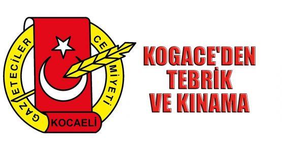 KOGACE'den tebrik ve kınama