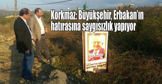 Korkmaz: Büyükşehir, Erbakan hocaya vefasızlık yapıyor