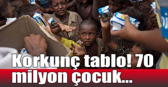 Korkunç tablo! 70 milyon çocuk...