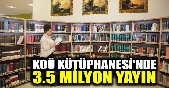 KOÜ kütüphanesinde 3,5 milyon yayın öğrencilerin hizmetinde