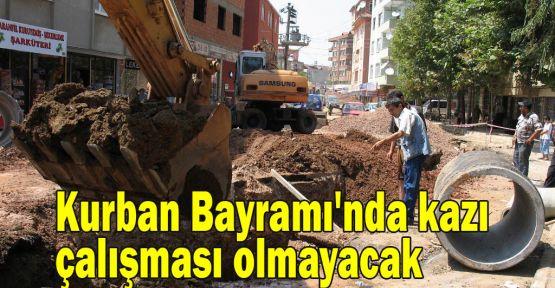 Kurban Bayramı''nda kazı çalışması olmayacak